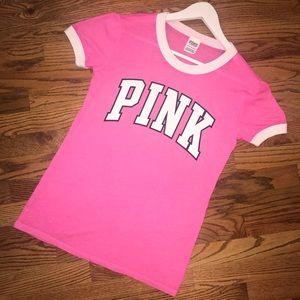 PINK Victoria's Secret Ringer Burnout Tee XS